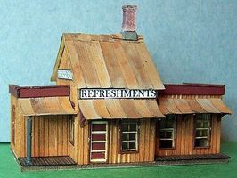 RS-Laser Eatery at Forks Kit N Scale Model Railroad Building #3013