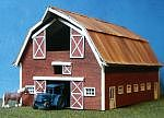 RS-Laser Roundtree Farms Barn Kit N Scale Model Railroad Building #3044
