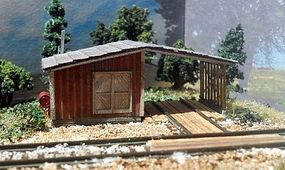 RS-Laser Speeder Shed Kit N Scale Model Railroad Building #3049