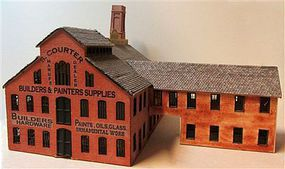 RS-Laser Courter Factory Kit N Scale Model Railroad Building #3057