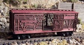 RS-Laser 38 Stock Car N Scale Model Train Freight Car #3401