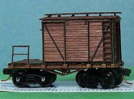 RS-Laser 24' MOW Caboose N Scale Model Train Freight Car #3402
