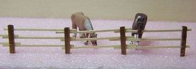 RS-Laser 3 Rail Fence Kit N Scale Model Railroad Building Accessory #3511
