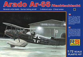 RS Arado Ar66 German WWII Trainer Aircraft Plastic Model Airplane Kit 1/72 Scale #92052
