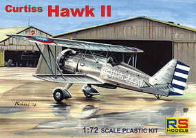 RS Curtiss Hawk II BiPlane Fighter Plastic Model Airplane Kit 1/72 Scale #92092