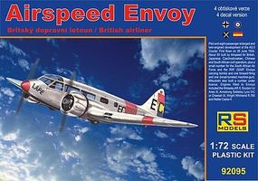 RS Airspeed Envoy British Cheetah Twin-Engine Aircraft Plastic Model Airplane Kit 1/72 #92095