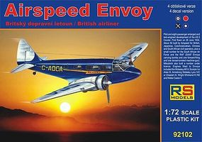 RS Airspeed Envoy British Lynx Twin-Engine Aircraft Plastic Model Airplane Kit 1/72 #92102