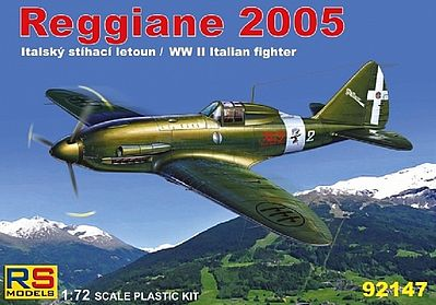 RS Models Reggiane 2005 WWII Italian Fighter -- Plastic Model Airplane Kit -- 1/72 Scale -- #92147
