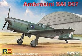 RS Ambrosini SAI207 WWII Light Fighter Plastic Model Airplane Kit 1/72 Scale #92157