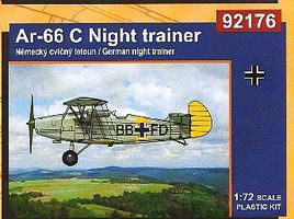 RS AR66C German Night Trainer BiPlane Plastic Model Airplane Kit 1/72 Scale #92176