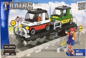 RRtrainblocks Flat Car W/load 186p