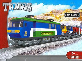 RRtrainblocks Elec Freight Train 573p
