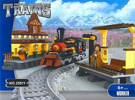 RRtrainblocks Steam Loco Train Station 462p