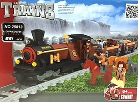RRtrainblocks Steam Loco W/cattle 531p