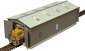 Railtown Run-Through Locomotive Maintenance Shed without Effects Kit 5-1/8 x 2-1/8 x 1-3/4''  13 x 5.4 x 4.5cm N-Scale