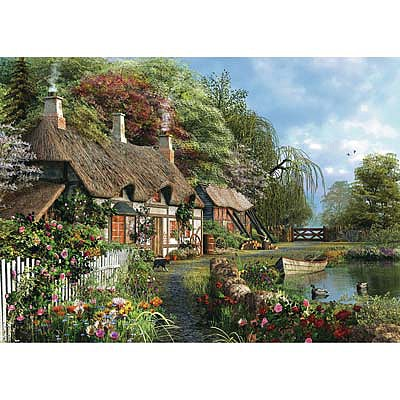Ravensburger Cottage on a Lake 300pcs Large Format -- Jigsaw Puzzle 0-599 Piece -- #13580