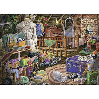 Ravensburger The Attic 500pcs Large Format -- Jigsaw Puzzle 0-599 Piece -- #14869