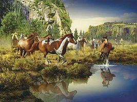 Ravensburger Wild Horses 1500pcs Jigsaw Puzzle Over 1000 Piece #16304