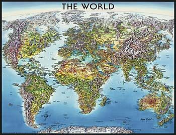 Ravensburger World Map 2000pcs -- Jigsaw Puzzle Over 1000 Piece -- #16683