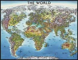 Ravensburger World Map 2000pcs Jigsaw Puzzle Over 1000 Piece #16683