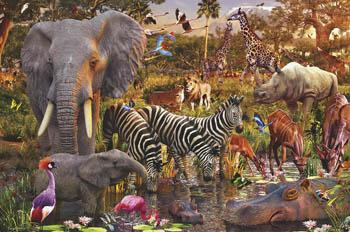 Ravensburger African Animals 3000pcs -- Jigsaw Puzzle Over 1000 Piece -- #17037