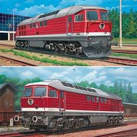 Revell-Germany BR 130/230 & BR 131/231 Diesel Loco Set Plastic Model Locomotive Kit 1/87 Scale #02159