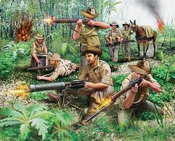 Revell-Germany WWII Anzac Infantry (42) Plastic Model Military Figure Kit 1/76 Scale #02529