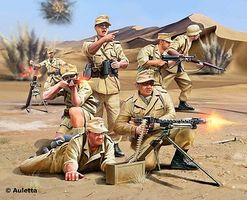 Revell-Germany Africa Corps WWII Plastic Model Military Figure Kit 1/76 Scale #02616