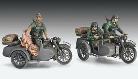 Revell-Germany German R12 Motorcycle with Sidecar Plastic Model Military Vehicle Kit 1/35 Scale #03090
