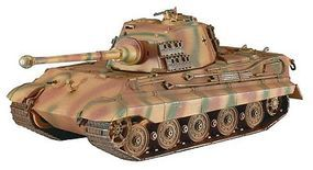 Revell-Germany Tiger II Ausf. B Kit Plastic Model Military Vehicle Kit 1/72 Scale #03129