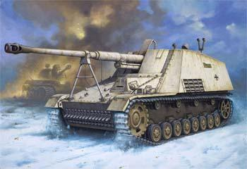 Revell of Germany Sd.Kfz. 164 Nashorn -- Plastic Model Military Vehicle Kit -- 1/72 Scale -- #03148