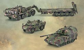 Revell-Germany SLT503 Elefant & Howitzer PzH 2000 & Fennek Set Plastic Model Vehicle Kit 1/72 Scale #03204