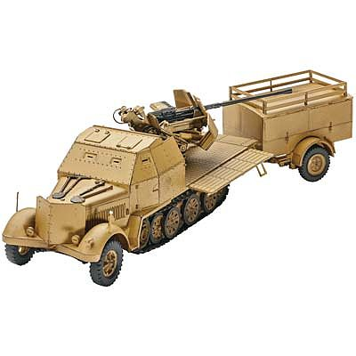 Revell of Germany Sd.Kfz. 7/2 -- Plastic Model Military Vehicle Kit -- 1/72 Scale -- #03207