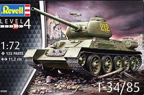 Revell-Germany T-34/85 Plastic Model Military Vehicle Kit 1/72 Scale #03302