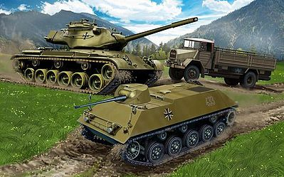 Revell of Germany Bundeswehr Vehicles -- 1/144 Scale Plastic Model Military Vehicle Kit -- #03351