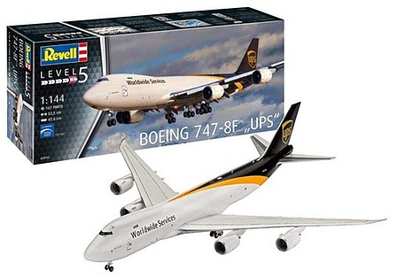 Revell-Germany B747-8F UPS Freighter Aircraft 1-144