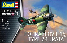 Revell-Germany Polikarpov I-16 Rat 1-32
