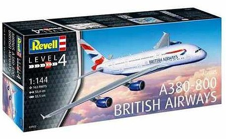 Revell-Germany A380-800 Emirates Plastic Model Airplane Kit 1/144 Scale #03922