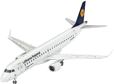 Revell of Germany Embraer 190 Lufthansa -- Plastic Model Airplane Kit -- 1/144 Scale -- #03937