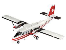 Revell-Germany DHC-6 Twin Otter Swisstopo Plastic Model Airplane Kit 1/72 Scale #03954