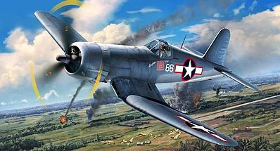 Revell-Germany F4U-1D Corsair Plastic Model Airplane Kit 1/72 Scale #03983