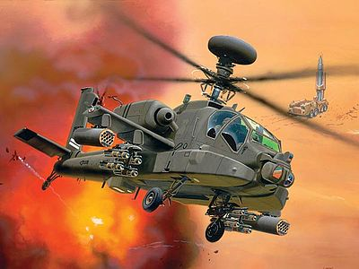 Revell-Germany AH64D Longbow Apache Combat Helicopter Plastic Model Kit 1/144 Scale #04046