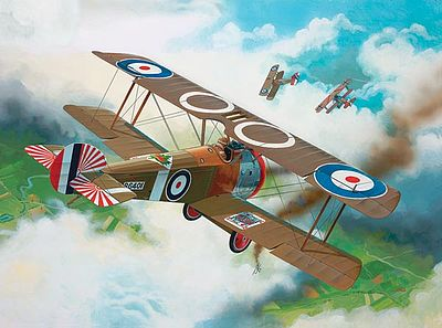 Revell of Germany Sopwith F1 Camel -- Plastic Model Airplane Kit -- 1/72 Scale -- #04190