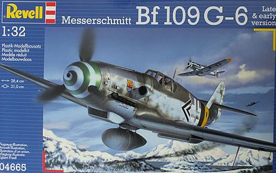 Revell of Germany Messerschmitt Bf109G6 Fighter -- Plastic Model Airplane Kit -- 1/32 Scale -- #04665