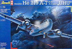 Revell-Germany Heinkel He219 A-7 UHU Plastic Model Airplane Kit 1/32 Scale #04666