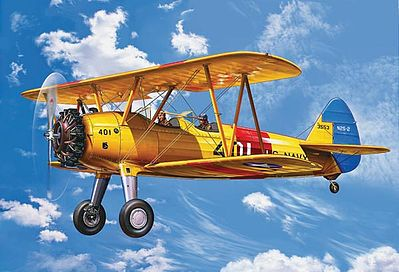Revell of Germany Stearman PT-13D Kaydet -- Plastic Model Airplane Kit -- 1/72 Scale -- #04676