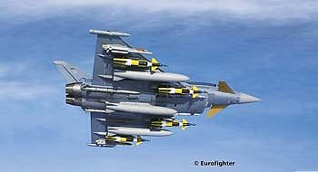 Revell-Germany Eurofighter Typhoon Twinseater Plastic Model Airplane Kit 1/144 Scale #04879
