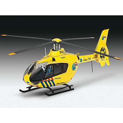 Revell of Germany EC135 Nederlandse Trauma Helicopter -- Plastic Model Helicopter Kit -- 1/72 Scale -- #04939