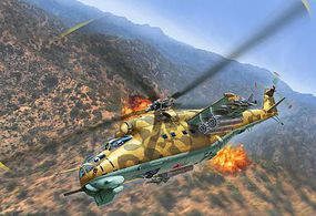 Revell-Germany Mil Mi-24D Hind Plastic Model Helicopter Kit 1/100 Scale #04951
