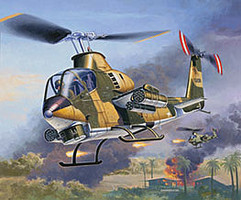 Revell-Germany Bell AH-1G Cobra Plastic Model Helicopter Kit 1/100 Scale #04954